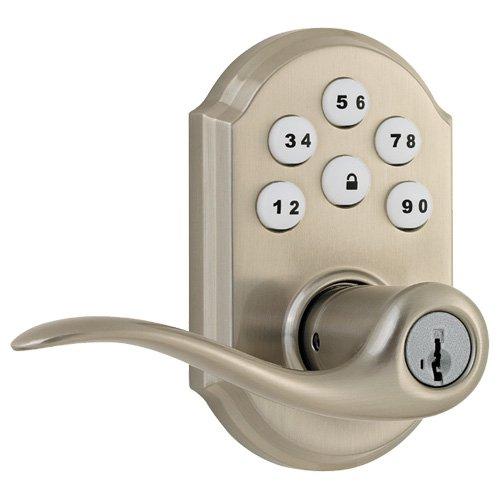 Kwikset SmartCode 912 Zigbee Traditional Leverset with Home Connect, Satin Nickel (99120-020)
