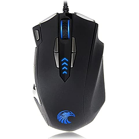 EUASOO Mouse Mice Z-7900 4000 DPI Metal Base MMO/FPS High Precision Optical Gaming Mouse - Sandisk Windows Xp