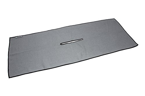 "Center Cut Microfiber Golf Towel 16""x40"" (Gray)"