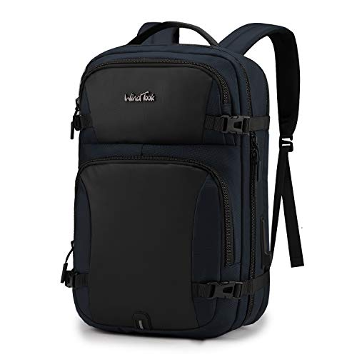WindTook Laptop Backpack for Women and Men Travel Computer Bag School College Daypack with USB Charging Port Suits 15.6 Inch Notebook (B00191 Navy Blue)