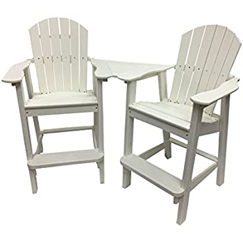 Phat Tommy Recycled Poly Resin Balcony Chair Settee U2013 Durable And  Adirondack Patio Furniture, White