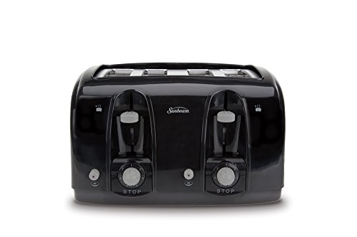 Sunbeam Wide Slot 4-Slice Toaster, Black (003911-100-000) - http://coolthings.us