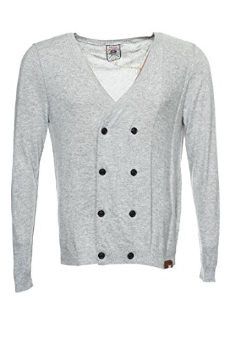 Diesel 'Tricot & Co' Light Gray Heather Cardigan Sweater, Size XLarge