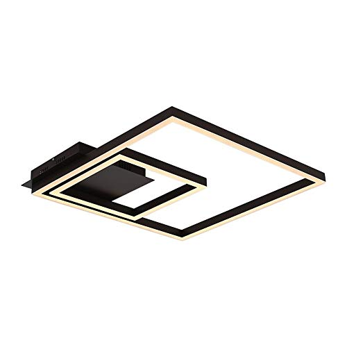 - qiuxi High-end fashion Interior Ceiling lamp Remoter Dimming Led Ceiling Light 70Watt Flush Mount Aluminium Black Painting for Living room Foyer , warm white-90-240v
