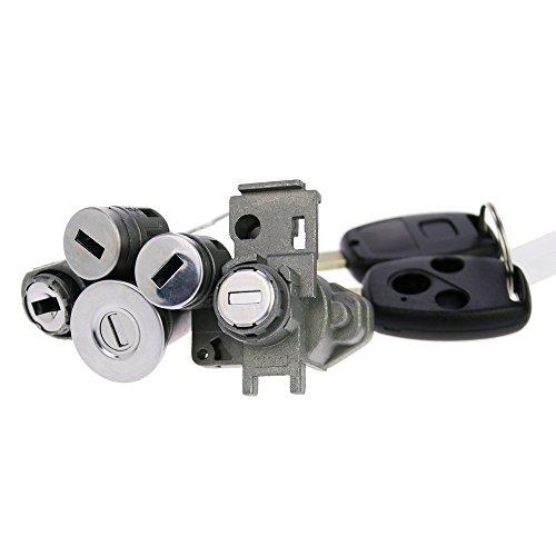 Suoyigou Honda Car Lock Original Cylider With Key Full Set Ignition Lock, Car Door Lock And Car Trunk Lock, Locksmith Practice Set (Honda Accord(03-07year)) ()