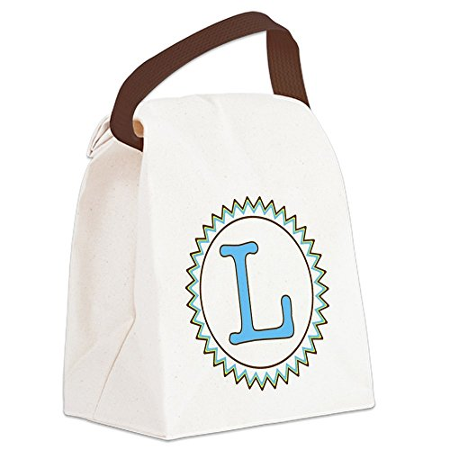 Mongram Letter - CafePress - Letter L Blue Yellow Brown Canvas Lunch Bag - Canvas Lunch Bag with Strap Handle