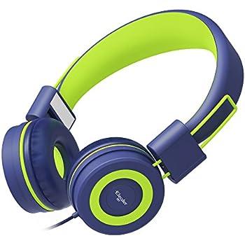 Elecder i37 Kids Headphones Children Girls Boys Teens Foldable Adjustable On Ear Headphones 3.5mm Jack Compatible iPad Cellphones Computer MP3/4 Kindle Airplane School Tablet Navy