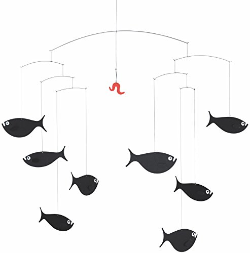 Flensted Mobiles Shoal Of Fish Hanging Mobile - 24 Inches (Decorative Ceiling Sculpture)
