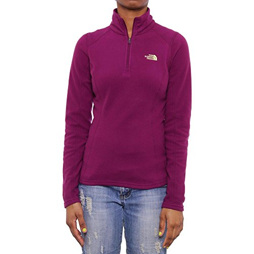 north-face-womens-glacier-1-4-zip-pullover-pamplona-purple-xs