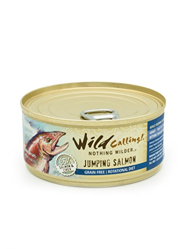 Wild Calling – Jumping Salmon 96% Salmon, Natural Flavor, Wet Canned Cat Pet Food – A Grain And Gluten-Free Fancy Feast For Your Cat – 24 X 5.5 Ounce Review