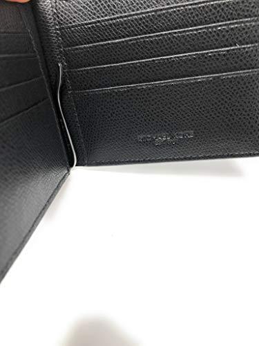 7dba343bbbdb Michael Kors Men's Warren Slim Billfold Bifold Leather Money Clip Wallet  Black