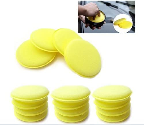 8DB5 Pratical 4inch 12pcs//Set Auto Waxing Set Polishing Foam Sponge Car