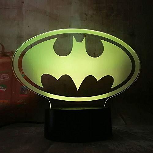 New 3D Led Light Night Desk Table Lamp 7 Color Change Controler Toy Kids Gift