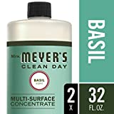 Mrs. Meyer's Clean Day Multi-Surface Concentrate, Basil, 32 fl oz, 2 ct