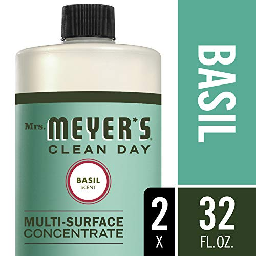 Mrs. Meyer's Clean Day Multi-Surface Concentrate, Basil, 32 fl oz, 2 ct by Mrs. Meyers