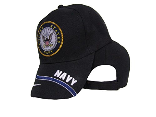 Infinity Superstore Black US Navy Seal Emblem Crest Splash Swirl Hat Ball 3D Embroidered Cap (State Seal Ball Cap)