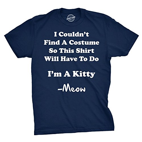 Im A Kitty Meow Halloween Costume T Shirt Funny Cat Shirts Sarcastic (Blue) -