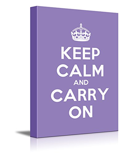Keep Calm and Carry On Stretched Purple