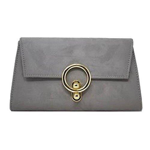 pour Soirée Gris femme Kaki synthétique Décoration sac Main à monnaie Or daim en Pochette Porte anneau NEUF Large nZ7wqTSYx