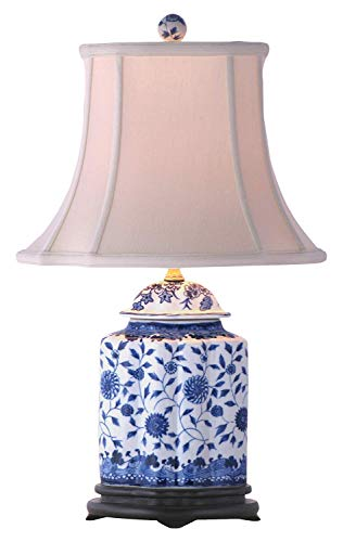 East Enterprises LPDBJH0810A Jar Table Lamp - Blue and White