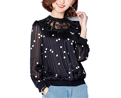 XIAFEIMANTIAN Fashion women Long-sleeved chiffon shirt loose - Mall The Short Hills At