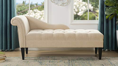 Jennifer Taylor Home 62020-584 Harrison Chaise Lounge, Beige (Indoor Chaise Furniture Lounge)