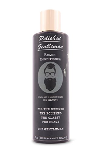 Polished Gentleman Beard Growth and Thickening Conditioner - With Organic Beard Oil - For Best Beard Look - For Facial Hair Growth - Beard Softener for Grooming - Hair Looks Facial Best