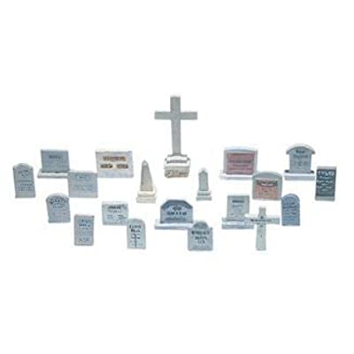 Woodland Scenics HO Scale Scenic Details 20 Tombstones: Toys & Games