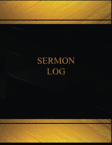 Sermon (Log Book, Journal - 125 pgs, 8.5 X 11 inches): Sermon Logbook (Black  cover, X-Large) (Centurion Logbooks/Record Books) ebook