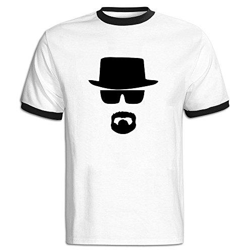 Men's Heisenberg Baseball T Shirt Black -