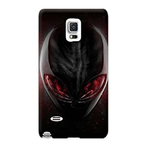 JohnPrimeauMaurice Samsung Galaxy Note 4 Protective Hard Cell-phone Case Unique Design Trendy Alienware Pictures [jRY5576esze]