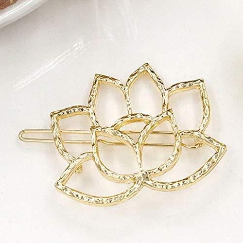 Replica Helmet Fiber Optic (Silver Wedding Bridal Pearl Flower Crystal Hair Pins Bridesmaid Clips Comb NEW (Color - Design#9 Gold Lotus))