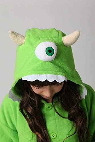 Es Unico Mike Wazowski Onesie Pajama Costume for Adults and Teenagers X-Large by Es Unico (Image #5)