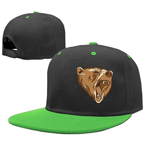 RGFJJE Gorras béisbol Baseball Caps Hip Hop Hat Brown Bear Head Boys-Girl