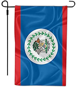 Rikki Knight Belize Flag Design Decorative House or Garden Full Bleed Flag, 12 by 18-Inch