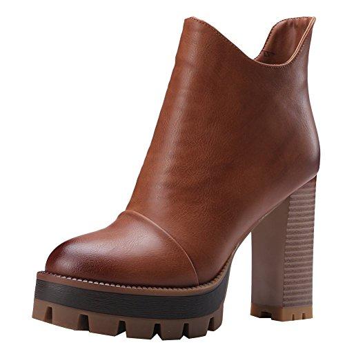 Platform Donna Cammello Stivaletti Elegante Misssasa Boots n45avTBxx