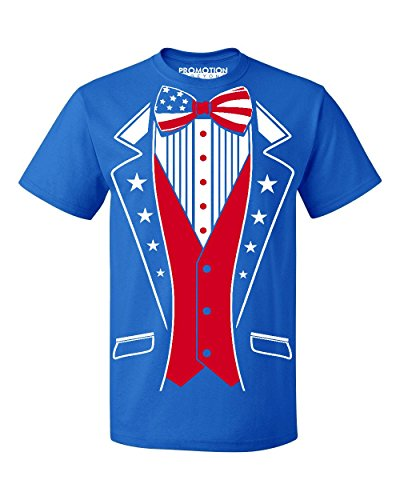 USA Tuxedo Patriotic 4th of July Men's T-Shirt, XL, Royal ()