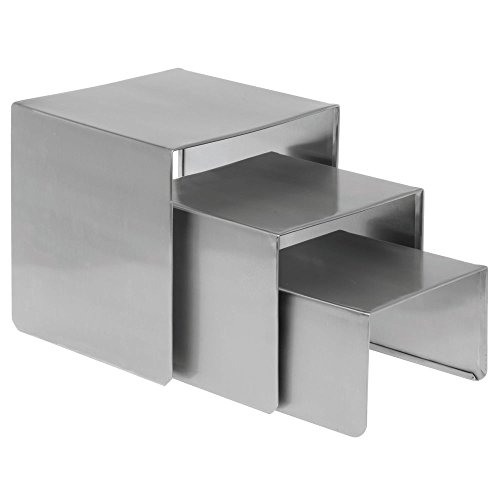 Expressly HUBERT Smooth Stainless Steel Step Riser Set by Hubert