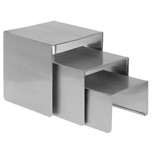 HUBERT Display Riser Set Smooth Stainless Steel, Set of ()
