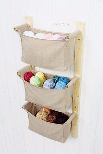 Nursery Storage Baskets   Kids Room Toy Storage   Diaper Caddy Wall  Organizer   Crib Hanging