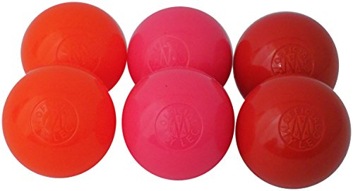 Mylec Spring/Summer 6 Pack Balls 6 Pack Spring/Summer Balls, Red/Orange/Pink