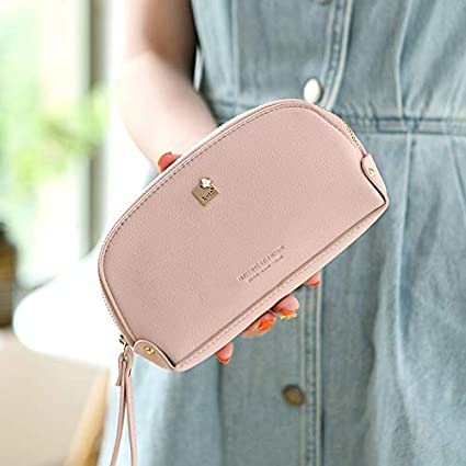 Women Purse Color : Blue Large-Capacity Wallet Female Long Section Fashion Japanese and Korean Students Cute Small Fresh Mobile Wallet Color : Blue