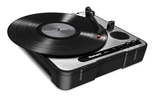 Numark PT01USB | Portable Vinyl-Archiving Turntable for 33 1/3, 45, & 78 RPM Records