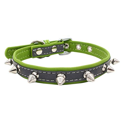 Topgee Pet Collars - Adjustable Rivet Spiked Studded Puppy Collar Cool Dog Neck Patterns Personalized Collars Classic Solid Color Dog Collar Strap Multiple Color for Lovely Dogs & Cats
