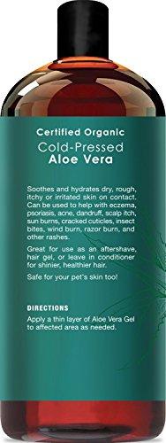 Majestic Pure Aloe Vera Gel From 100 Pure And Natural Organic Cold Pressed Aloe Vera 16 Fl Oz