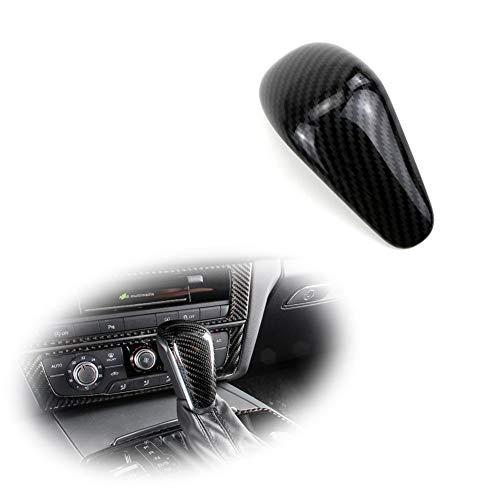 GTINTHEBOX Carbon Fiber Pattern ABS Gear Shift Knob Cover Sticker Trim Decoration for 2016-2018 Audi A6L & 2015-2018 Audi A7