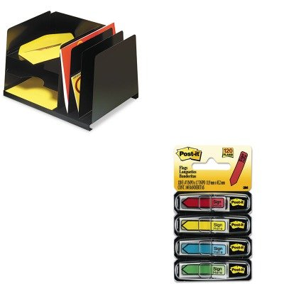 KITMMF264R3HVBKMMM684SH - Value Kit - MMF Combination Horizontal/Vertical Steel File (MMF264R3HVBK) and Post-it Arrow Message 1/2quot; Flags (MMM684SH)