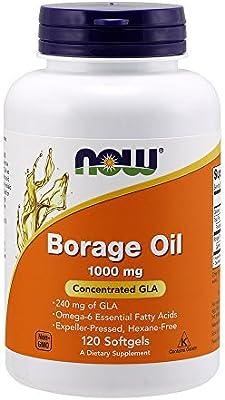 Now Foods, Aceite de Borraja - 1000mg x120caps: Amazon.es: Salud y ...