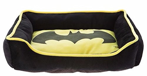 DC Comics, Batman Cuddler Dog Bed Size 19L x 15W (19L x 15W, Yellow) (Dog Batman)