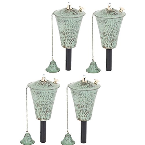 Legends Direct Kona Tiki Torch 4 Pack (Hammered Patina)